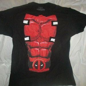 Marvel Men's Deadpool Six Pack Chest T-SHIRT LARGE